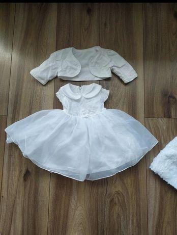 Sukieneczka do chrztu z bolerkiem 68