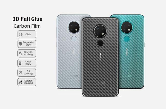 Карбоновая пленка Nokia 7.2 6.2 4.2 3.2 8.1 5.1 6.1 X6 Plus 9 PureView