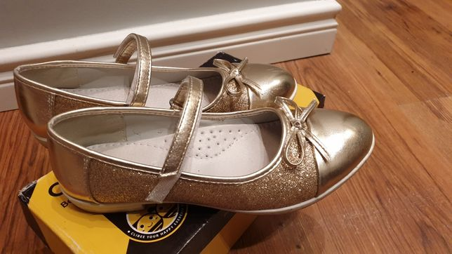 Balerinki baleriny buty zlote r.36