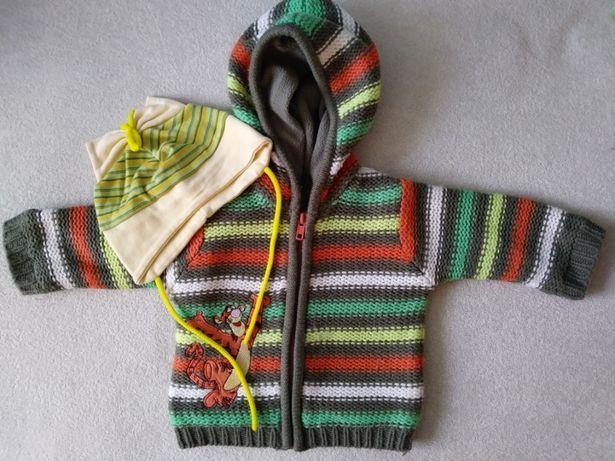 Sweterek dla chłopca i dla dziewczynki 3-6 miesięcy