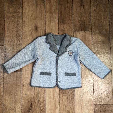 Детский трикотажный пиджак размер 86