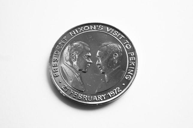Medalha de coleção comemorativa Presidente Nixon / Nações Unidas