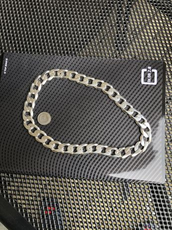 Łańcuszek łańcuch pancerka srebro 925 OKAZJA