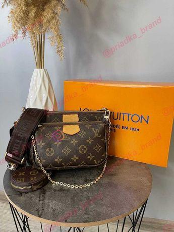 Сумка Louis Vuitton MULTI POCHETTE • Сумочка Луи Витон • Коричневая •