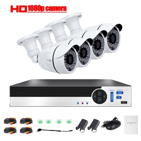 Sistema video vigilancia 4 cameras 1080p internet Android ios iphone