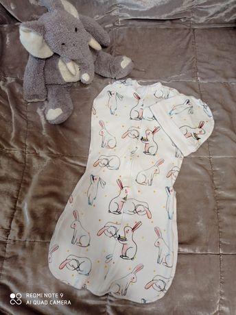 Кокон и шапочка для новорожденных