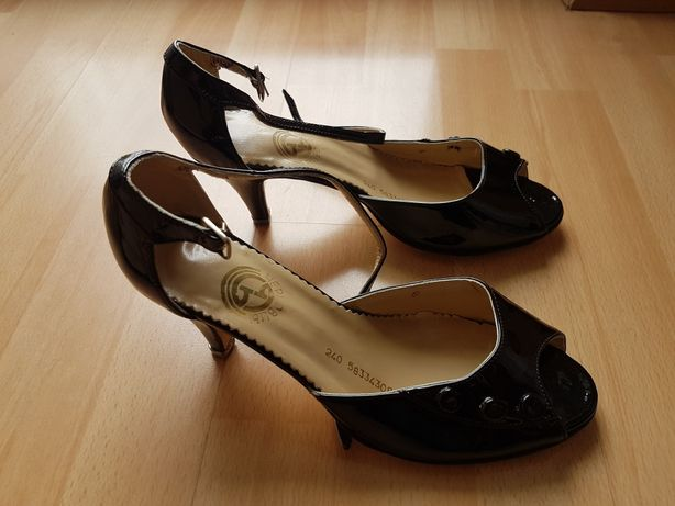 Buty damskie eleganckie szpilki rozm. 38 czarne nowe.
