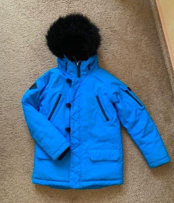 Зимняя курточка синяя 8 лет, зеленая 7 лет, черная 8 лет, зеленая 7 Кропивницкий - изображение 1