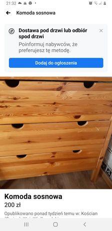 Komoda sosnowa 3szuflady