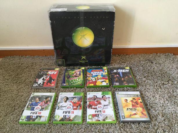 XBOX classic desbloqueada + 4 jogos + 4 jogos Xbox 360