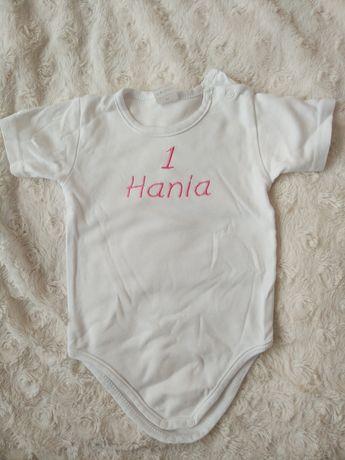 Body białe 80cm personalizacja Hania na 1 roczek