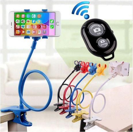 Гибкое крепление для телефона + пульт, штатив, держатель, подставка