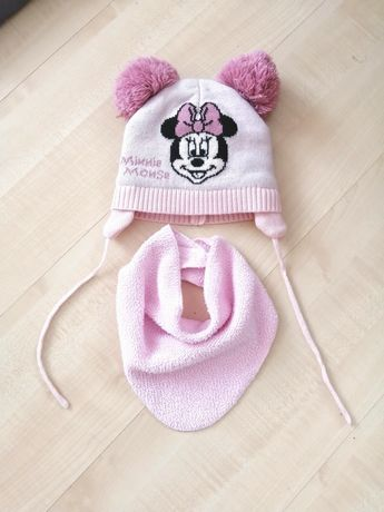 Czapeczka  Baby Disney+chustka pod szyję, rozmiar 74 /80