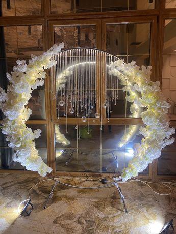 Фотозона 3000 грн на весілля ціна за все декор арка банер