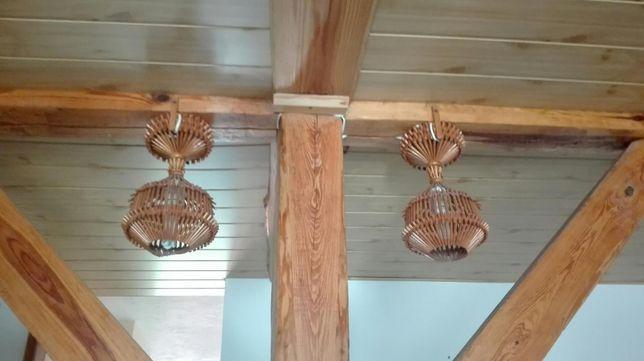 Lampa drewniana, stylowa,