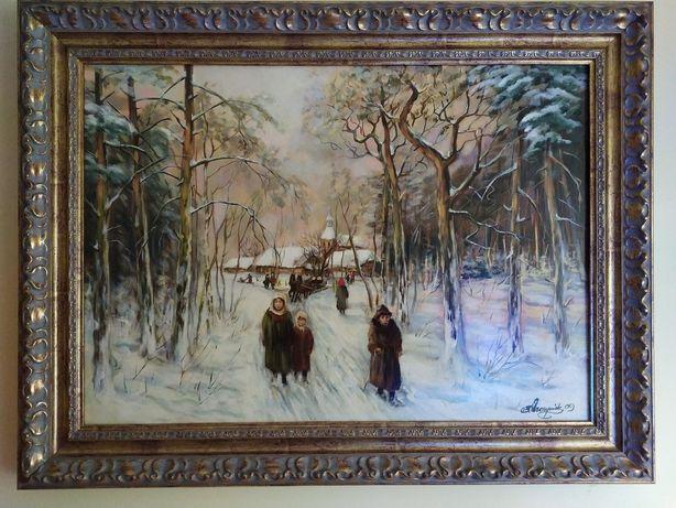 Obraz na płótnie Duża zima B.Wawrzyniak