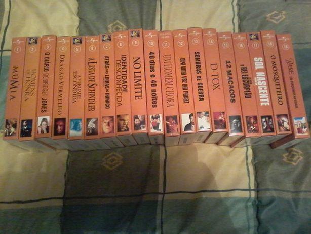 Colecção de filmes em cassetes de vídeo