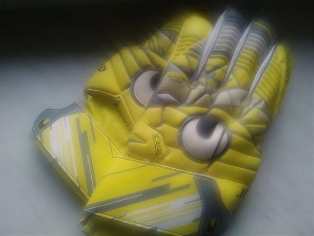 Uhlsport Rękawice bramkarskie rozmiar 10 profesionalne prawie nowe