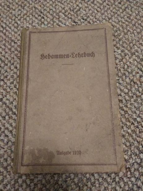 """Stara medyczna książka niemiecka """"Podręcznik dla położnej"""""""