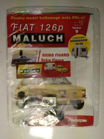 Kolekcja Deagostini Metalowy Model FIATA 126p z przyczepą nr: 9