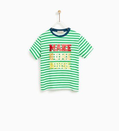 NOWY z metką T-shirt ZARA odwracane cekiny 6 116