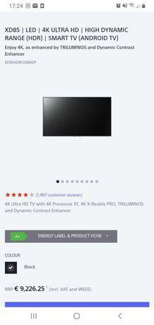 """troco TV Sony 85""""poL"""