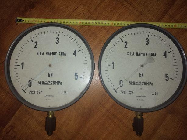 Zegary, manometry siły hamowania. Urządzenie diagnostyczne.