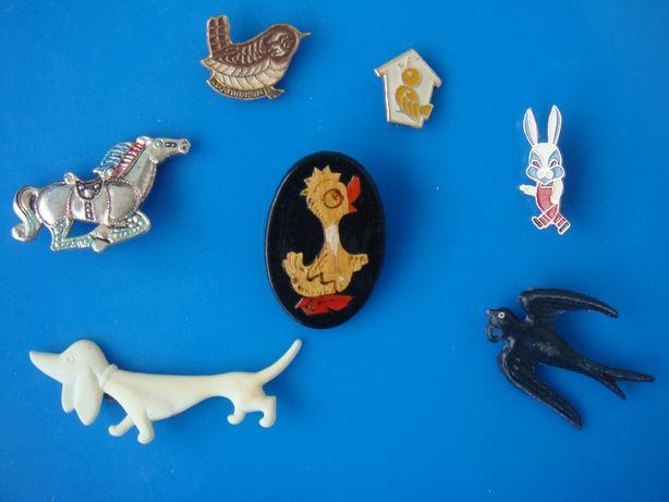 Значки и брошки детские СССР алюминий и пластмасса 7 за 50 грн.