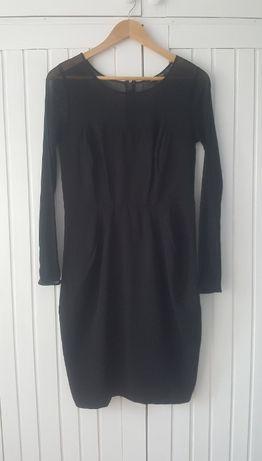 Mała Czarna Sexy Sukienka Przeźroczysta, Marks&Spencer