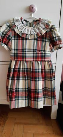 Vestido xadrez  loja Patinhos - 3 - 4 anos