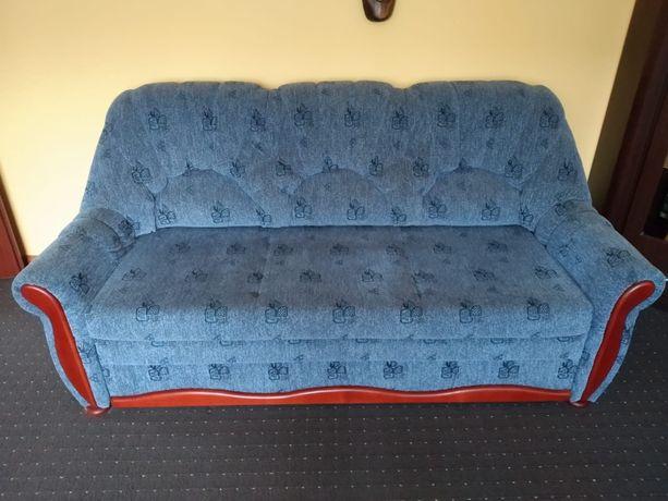 Kanapa z funkcja spania, fotele pufy, komplet zestaw wypoczynkowy sofa