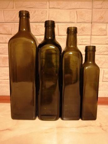 Butelki szklane - zestaw 4szt