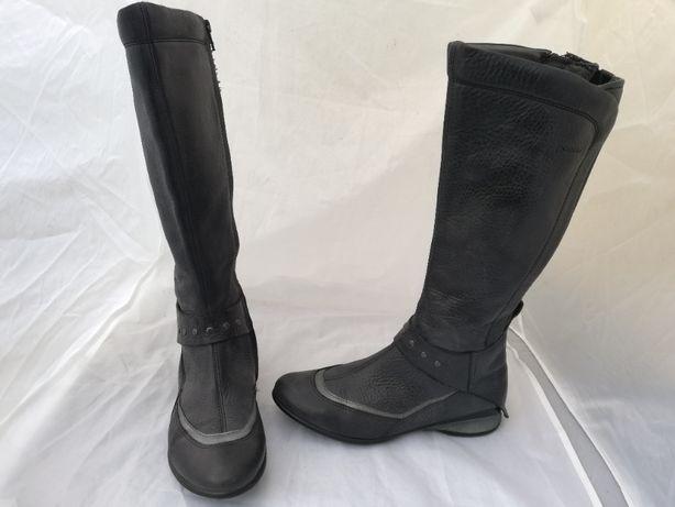 Buty kozaki skórzane Ecco r. 37 , wkł 24,5 cm