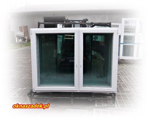 196x147 pięciokomorowe okno PCV używane niemieckie z nawiewnikiem!