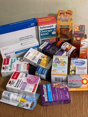 Вітаміни, тести на ковід, БАДи з Великобританії та Німеччини
