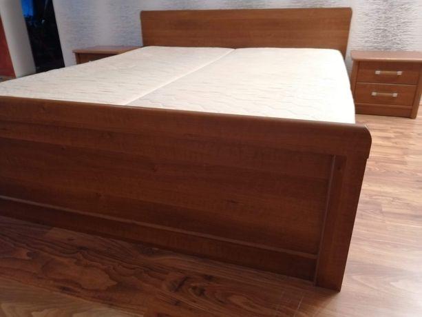 Sypialnia Sen II z kolekcji BRW- łóżko, 2 szafki nocne i komoda