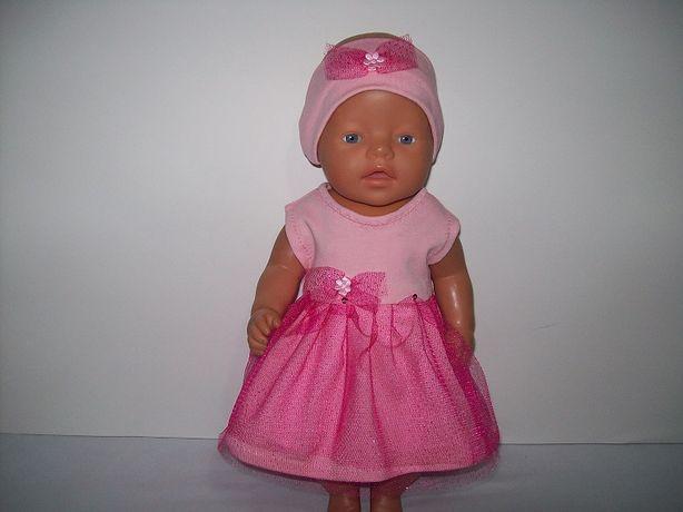 Sukienka tiulowa dla lalki 42-45 cm takiej jak baby born i podobne.