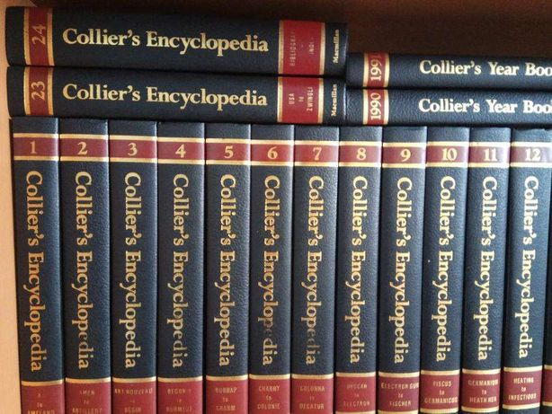 Enciclopédia Collie's + 3 volumes Collier's Year Book