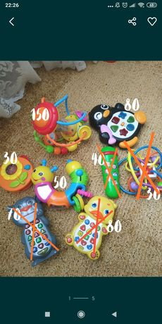 Іграшки музичні розвиваючі hola кубики