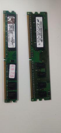 Memórias ddr2 1 GB e 2 GB