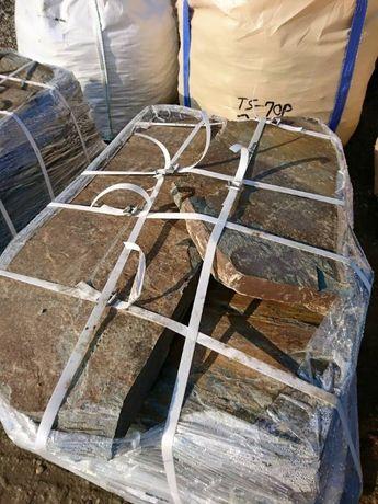 Kamień na ścieżki ogrodowe kamienie ścieżkowe łupek szarogłazowy