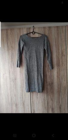 Sukienka brokatowa Mohito S