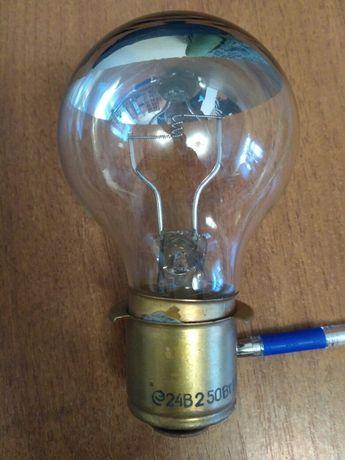 Прожекторная лампа с зеркальным отражателем 24в 250вт