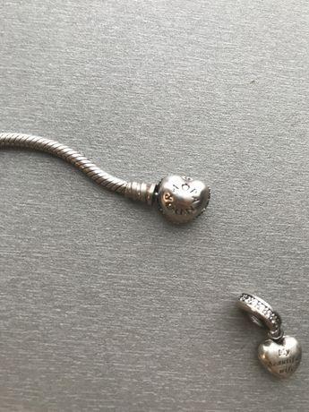 Pandora charmsy z bransoletką