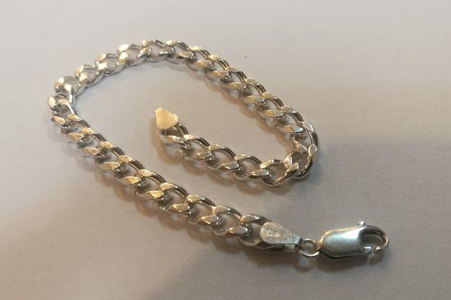 DD336 srebrna bransoletka PANCERKA, srebro 925