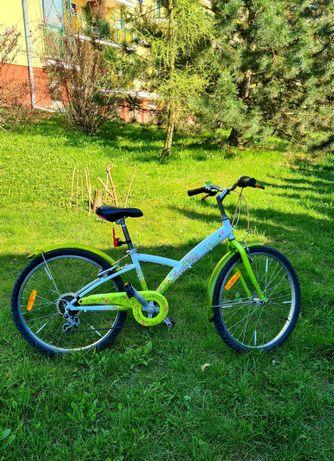 Śliczny rower 24 cale B'TWIN Ann is Green