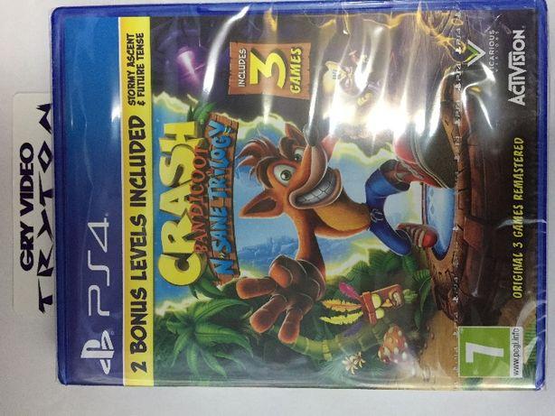 Crash N'sane trilogy PS4 Playstation 4 -Sklep gra używana