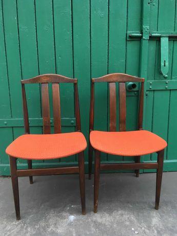 2X Krzesło typ 2147 Var PRL Vintage stan oryginalny Śląsk Katowice