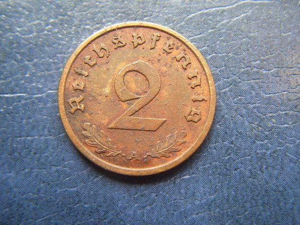 Stare monety 2 reichsfenigi 1939 A Niemcy / 4