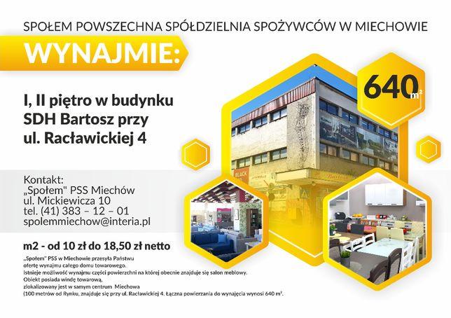Lokale do wynajęcia 640 m2 oraz 200 m2 MIECHÓW